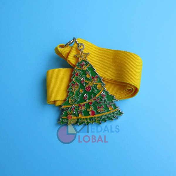 Christmas Running Medals.Colorful Medals And Awards For Your Events Global Race Medals