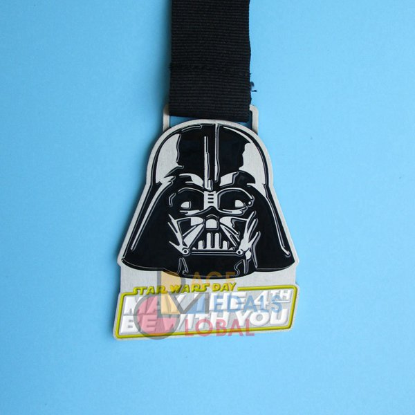May The 4th Be With You Virtual Run: Custom/Besopke Virtual Medals, Online Marathon Medals